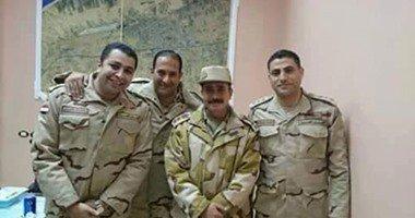 ننشر صورة تجمع العميد أحمد فوزى والنقيب محمد عادل شهيدى حادث سيناء الإرهابى