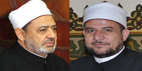 وزير الأوقاف بمكتب الإمام الأكبر لتهنئته