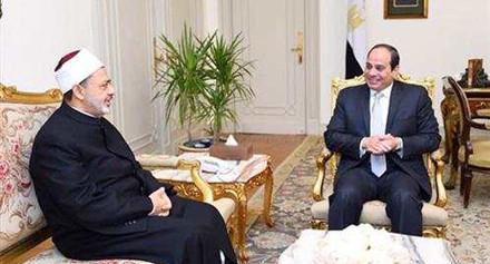 رئيس الجمهورية وشيخ الأزهر في اجتماع اليوم لمناقشة سبل تطوير الخطاب الديني