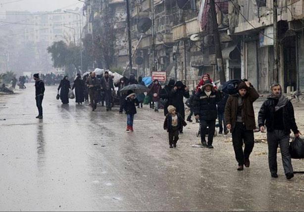 خروج أول دفعة من الجرحى والمرضى من أحياء حلب الشرقية