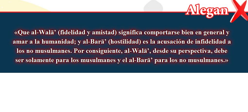 12- Creencias falsas, corregidas: Que al-Walā' (fidelidad y amistad)