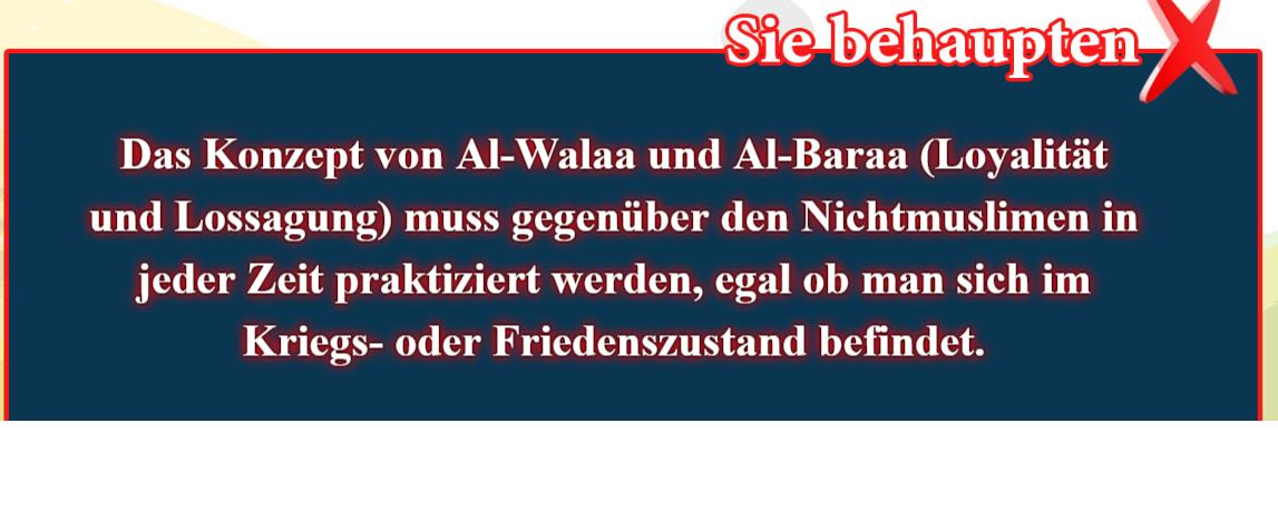 13- Falsche Überzeugungen, korrigiert: Das Konzept von Al-Walaa und Al-Baraa