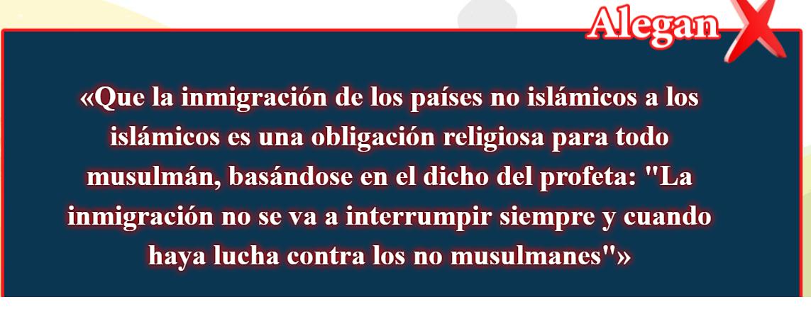 25- Creencias falsas, corregidas: Que la inmigración de los países no islámicos a los islámicos es una )