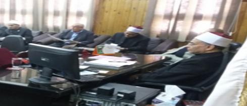 رئيس منطقة سوهاج الأزهرية يلتقي مديري الإدارات التعليمية