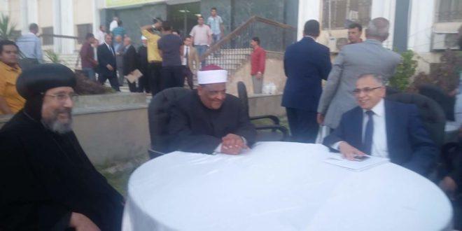فى حفل إفطار جامعة الأزهر .. أسقف شبرا يقدم التهنئة لوكيل الأزهر ورئيس الجامعة