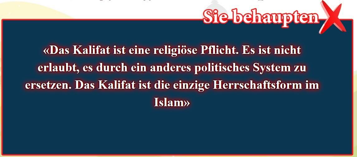 1- Falsche Überzeugungen, korrigiert: Kalifat