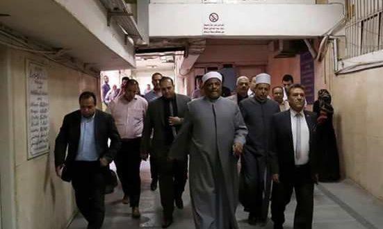 حريق بمدينة البعوث .. ورئيس الجامعة ووكيل الأزهر وعميد طب يطمئنون على المصابين |صور