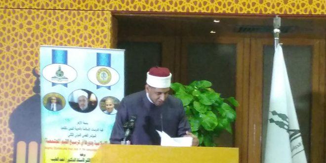 """كلمة """"علي الأزهري"""" مقدما لبحثه بمؤتمر """"دور الشريعة الإسلامية في ترسيخ القيم المجتمعية"""""""