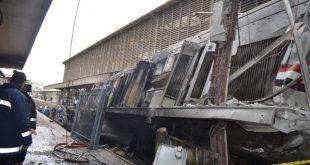 محطة رمسيس ، فيديوهات لحظة انفجار قطار محطة مصر من عدة كاميرات